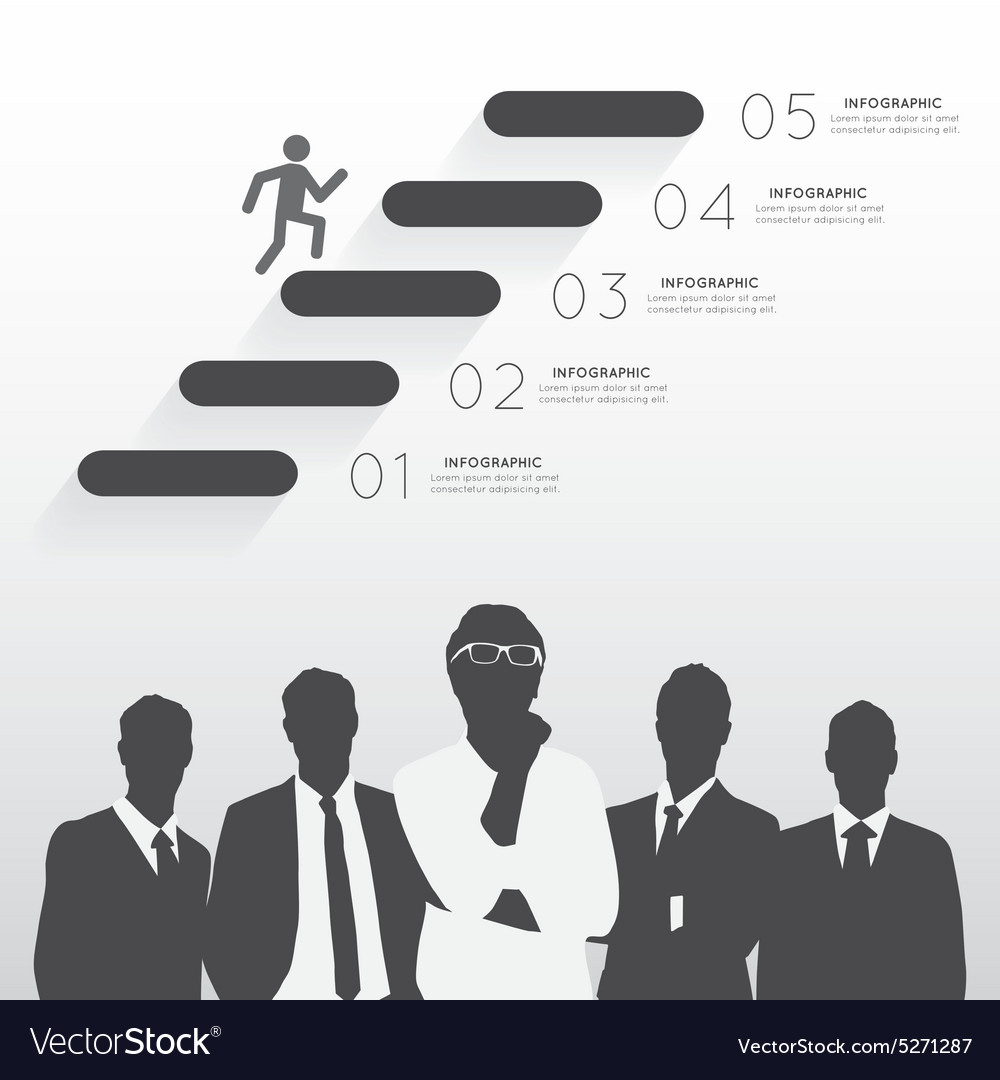 Silhouette businessman team vector