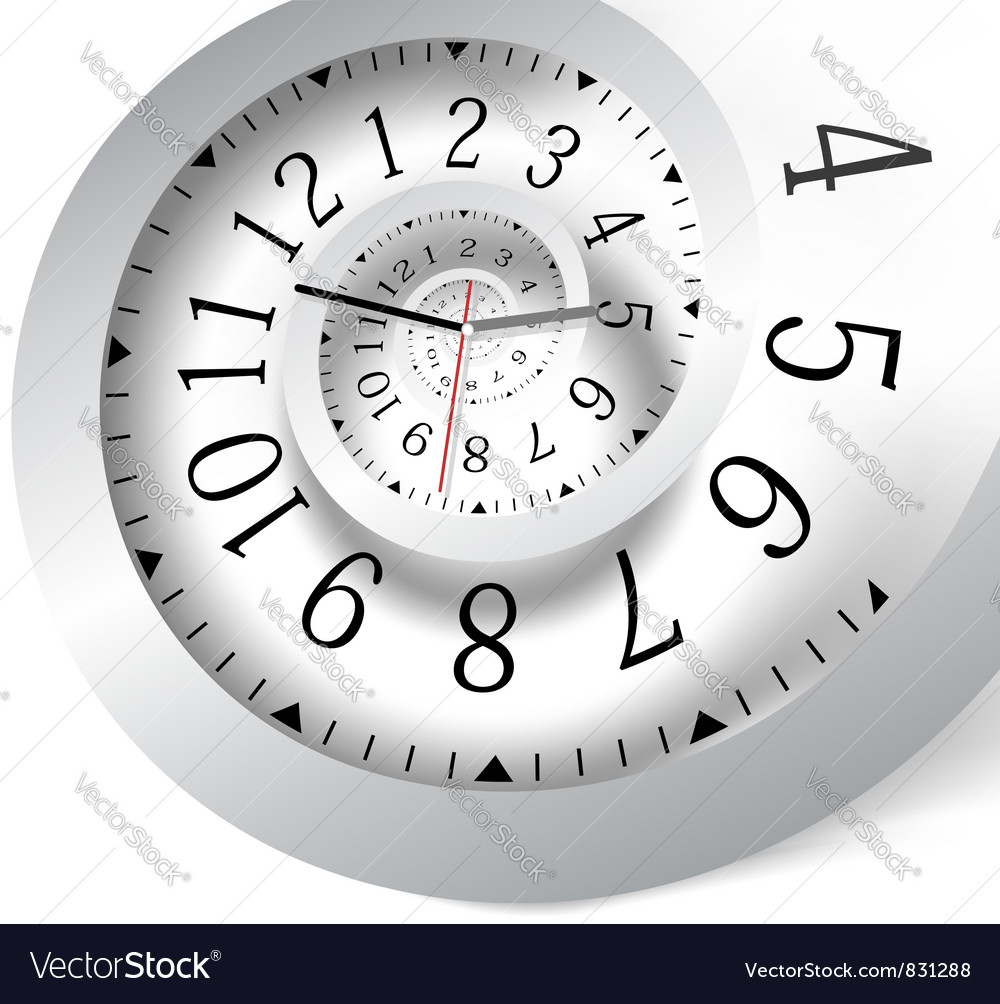Infinity time background vector