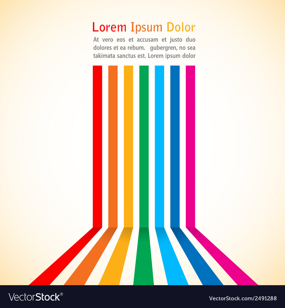 Rainbow stripes on light background vector