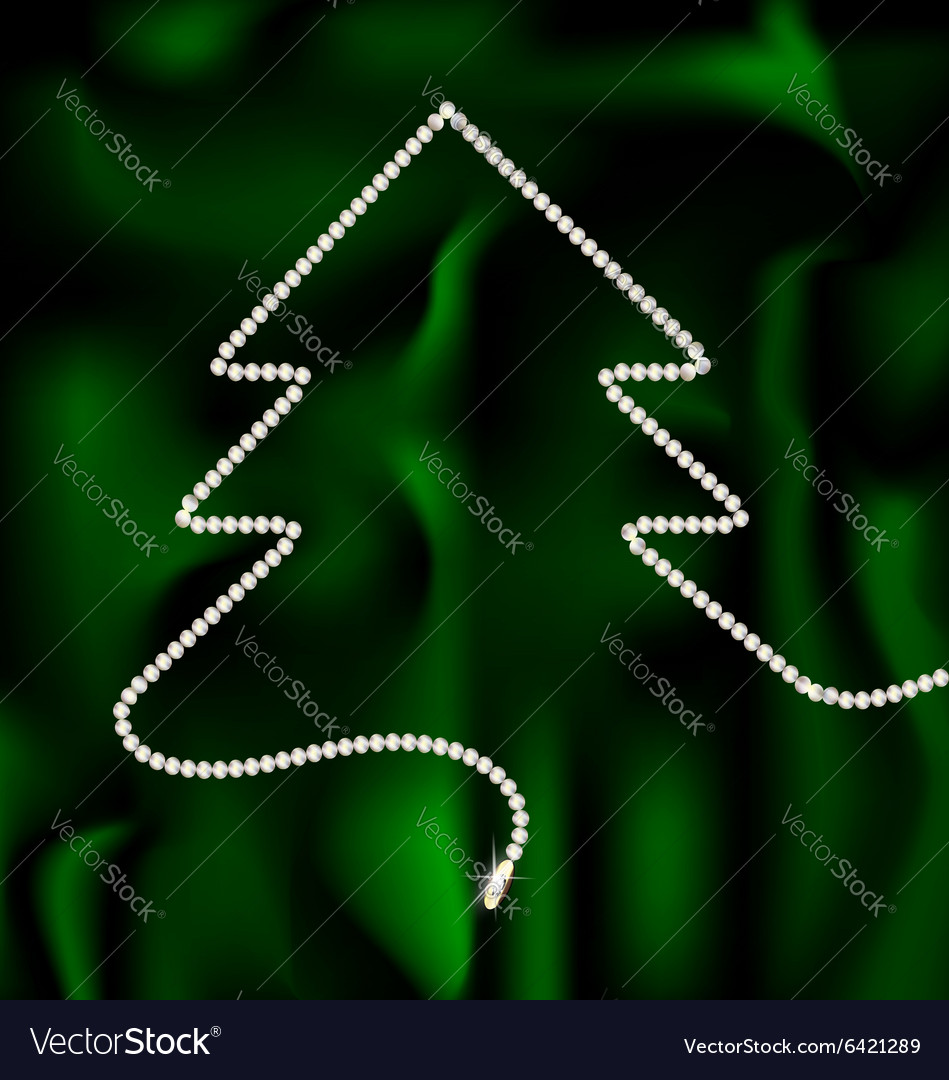 Beads and christmas tree vector