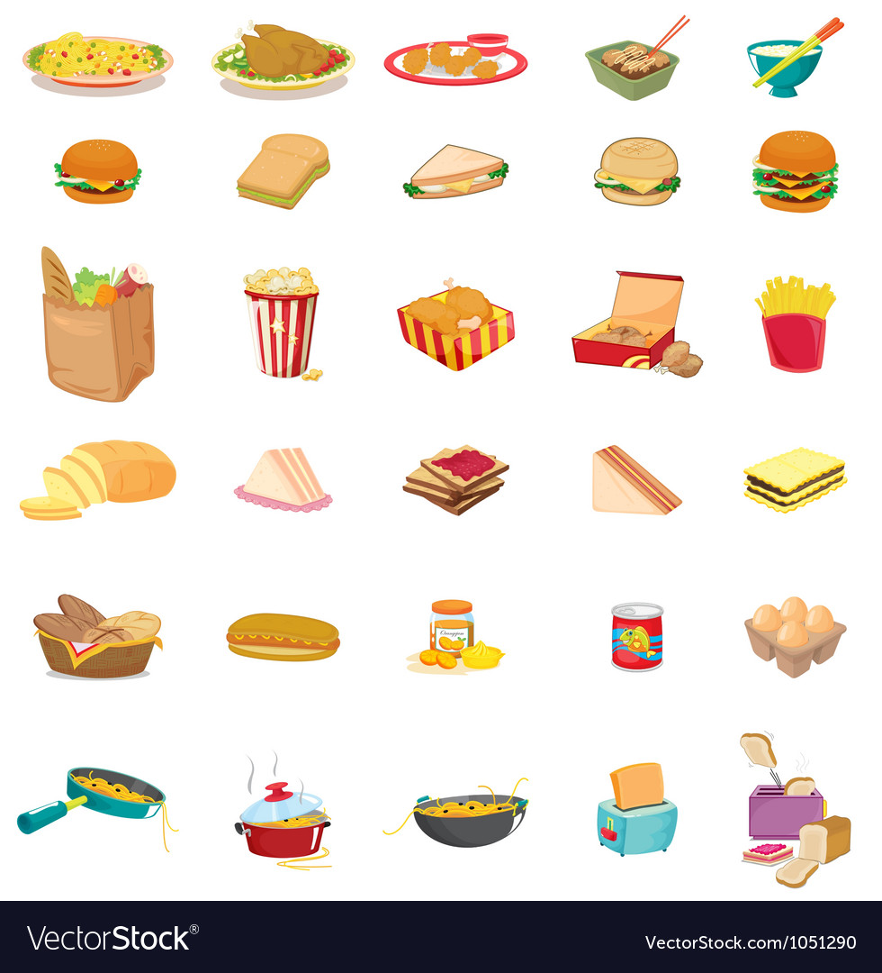 Mixed food vector