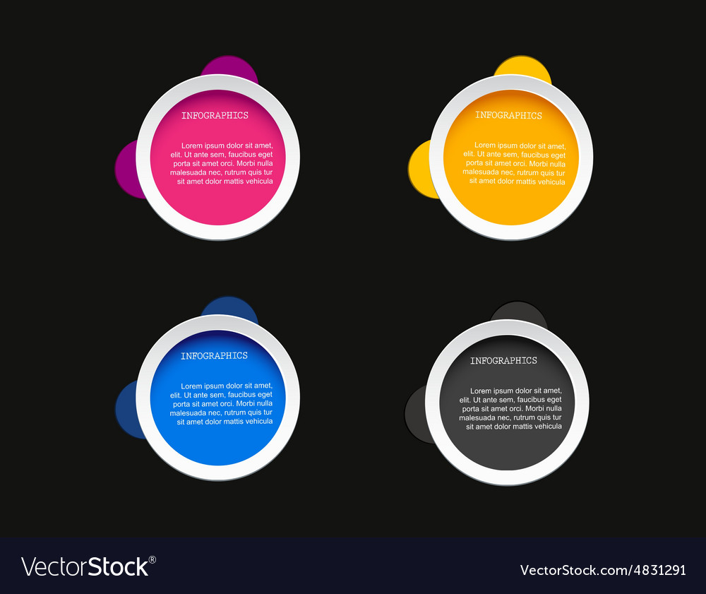 Modern abstract step lable infographic elem vector