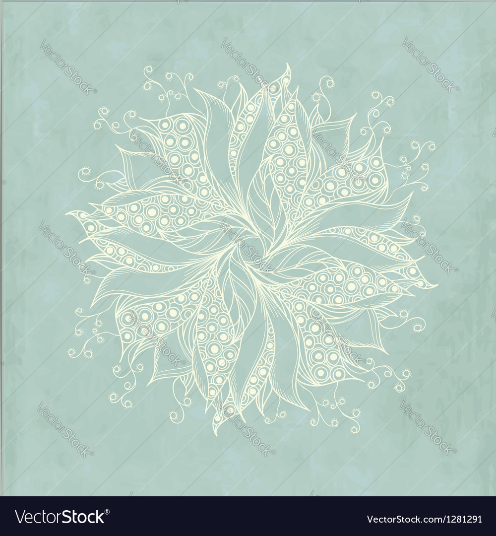 Vintage card with fantasy flower vector