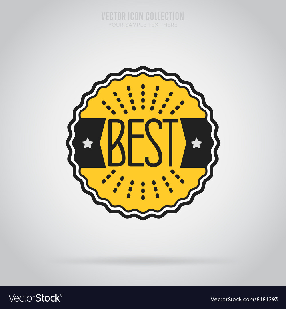 Best isolated badge label or sticker vector
