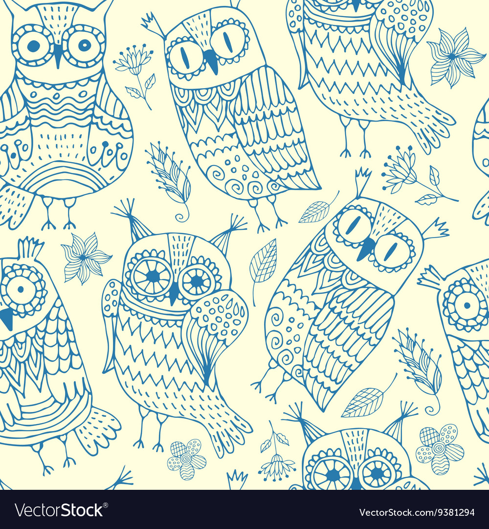 Background with owls vector