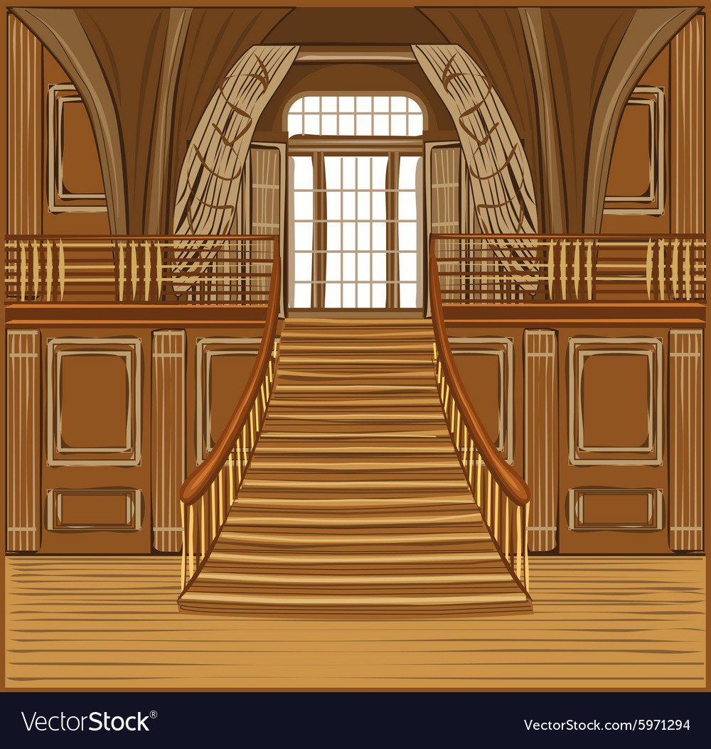 Interior of castle vector
