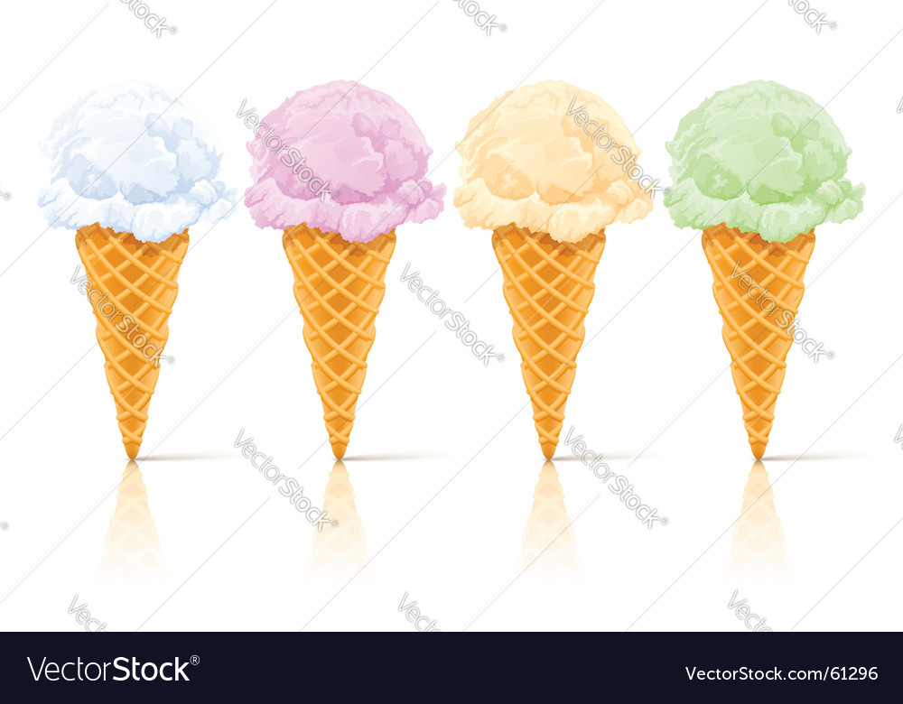 Ice cream dessert vector