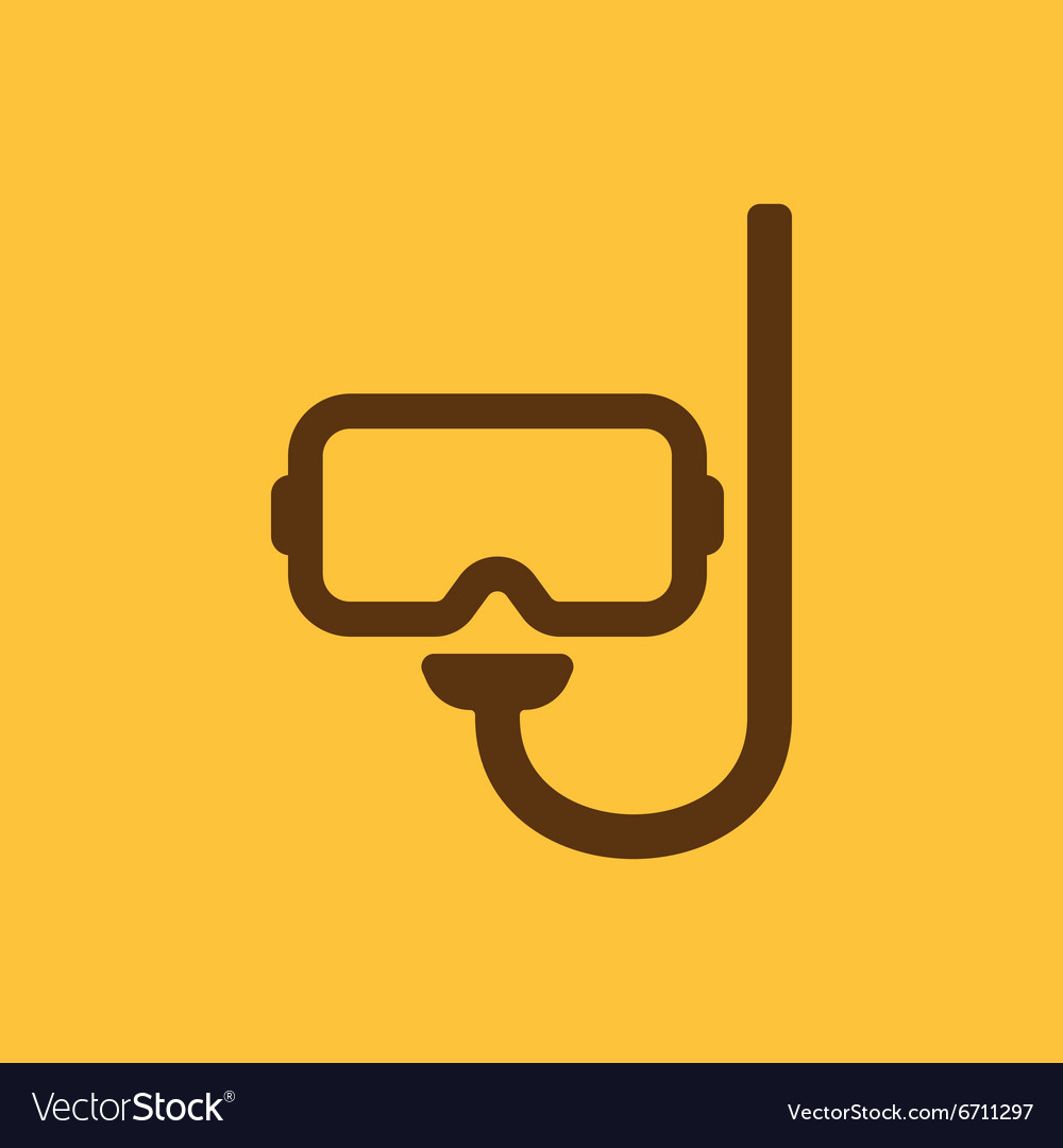 Scuba mask icon diving symbol flat vector