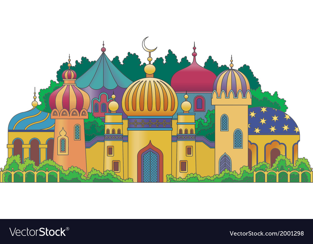 Arabic city vector