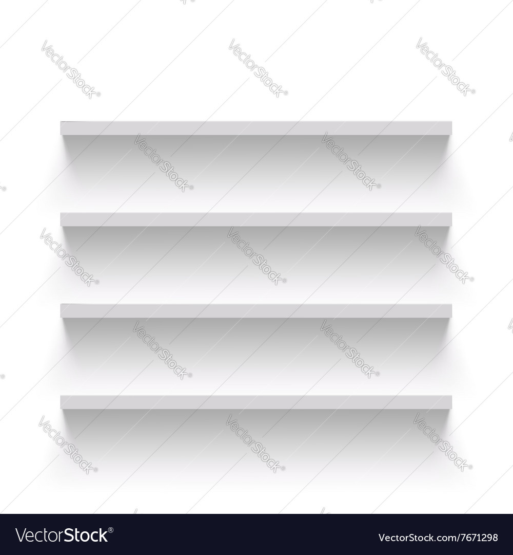 Empty shelves stock vector