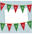 christmas bunting decoration vector image vector image