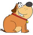 Fat Dog Cartoon Mascot Character vector image vector image