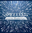 warp speed background with neon lines vector image