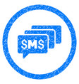 sms messages rounded grainy icon vector image