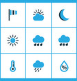meteorology colored icons set collection of wind vector image
