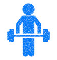 child power lifting grunge icon vector image