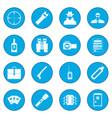 spy icon blue vector image