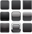 Square black app icons vector image