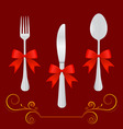 restaurant design elements vector image