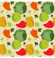 Autumn vegetables pattern vector