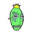 comic cartoon tribal mask vector image