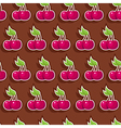 seamless chocolate cherry vector image vector image