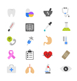 Medical and Healthcare Flat Color Icons vector image