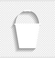 bucket sign for garden white icon with vector image