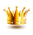classic crown with diamonds isolated on white vector image