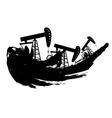 Grunge Oil Pump vector image