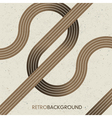intersection retro lines vector image