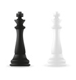 king chess piece black and white vector image
