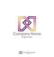 m initial letter logo infinity letter dd design vector image