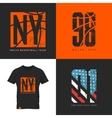 New York street wear t-shirt emblem vector image