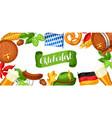 Oktoberfest beer festival banner or poster for vector image