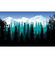 Panorama wood and mountains vector image