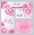 pattern of flowers roses lily petal vector image