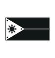 philippines flag monochrome on white background vector image