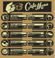 set of coffee menu with a cups of coffee drinks 5 vector image