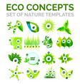 set of environmental nature or ecology concept vector image