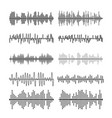 Sound wave forms soundtrack vector image