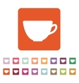 The cup icon Tea symbol Flat vector image