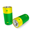 two batteries vector image