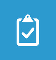 vote icon white on the blue background vector image