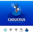 Caduceus icon in different style vector image