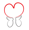 Angel hands holding a heart Vector Image