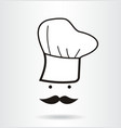 Icon chef with a mustache vector image