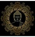 Buddha Head on Mandala Background vector image