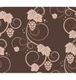 Grape vines seamless background vector image vector image