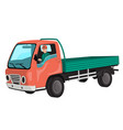 truck with driver vector image